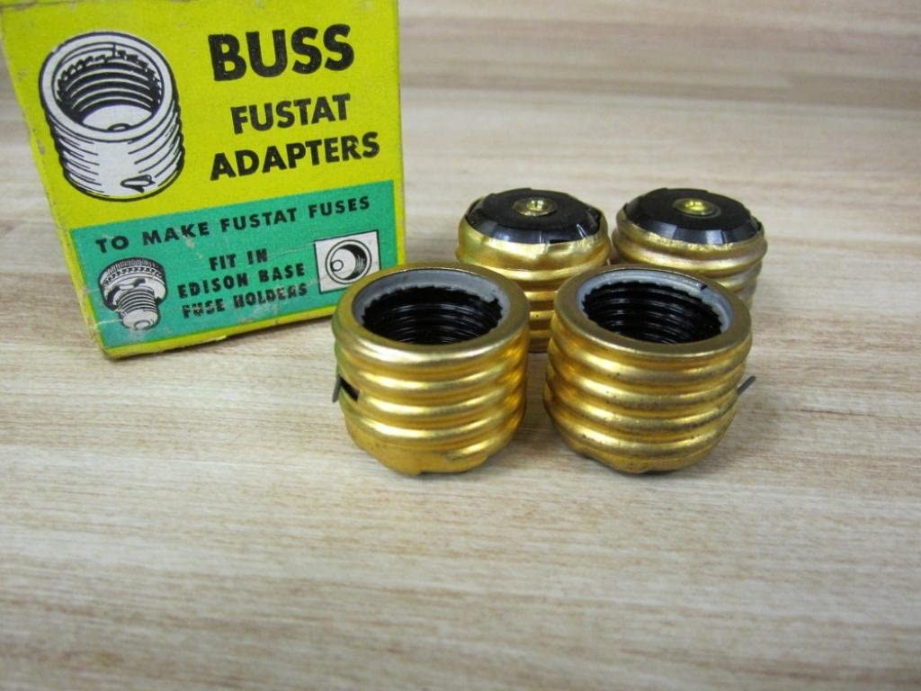 NEW BOX OF 4 BUSS FUSTAT SA-15 FUSE ADAPTERS