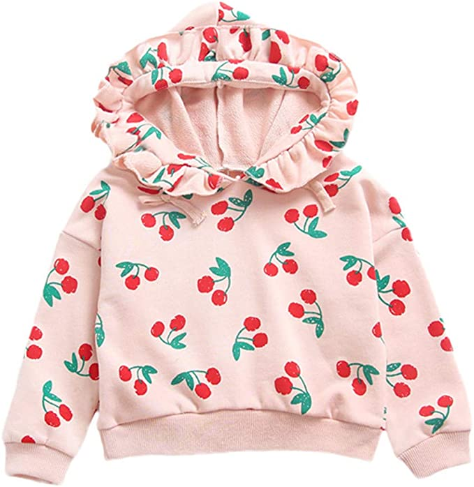 CIYCUIT Toddler Baby Girl Sweatshirt Long Sleeve Pullover Shirts Fall Winter Outfits