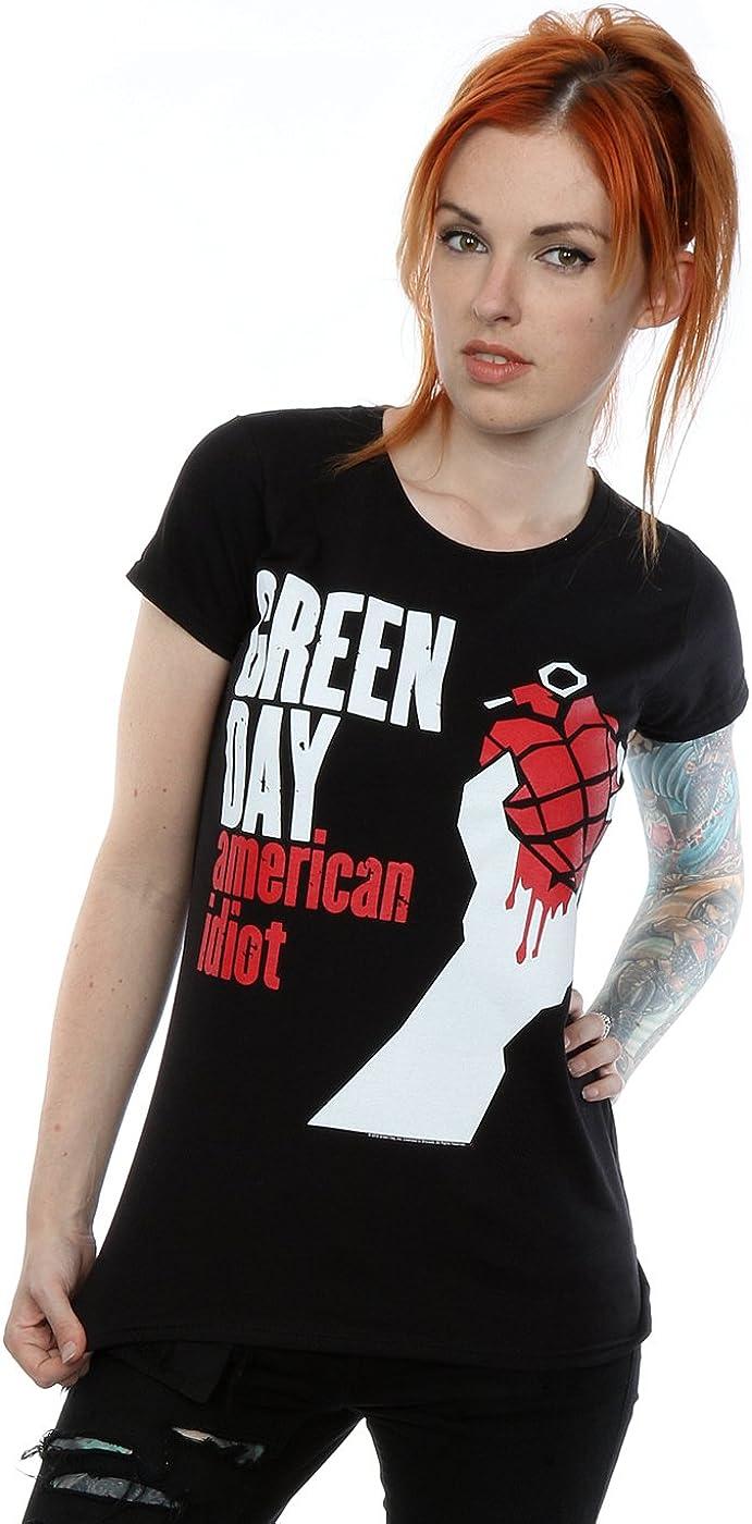 TALLA L. Green Day mujer American Idiot Camiseta