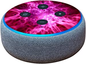 MightySkins Skin Compatible with Amazon Echo Dot (3rd Gen) - Red Mystic Flames   Protective, Durable, and Unique Vinyl Decal wrap Cover   Easy to Apply, Remove, and Change Styles   Made in The USA