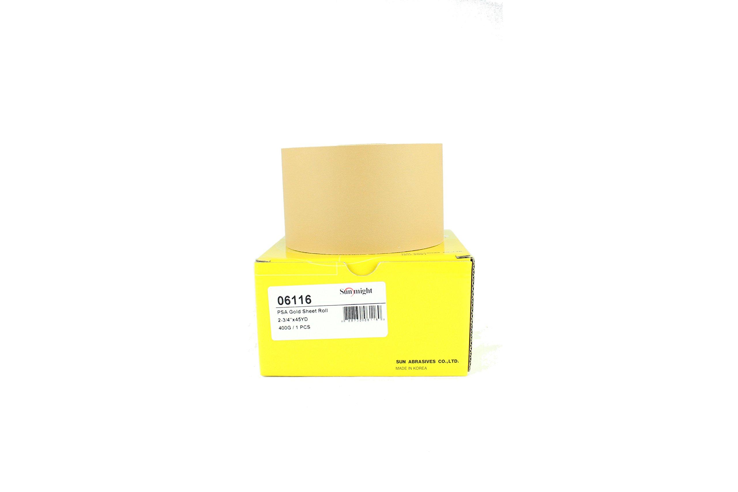 Sunmight 06116 2-3/4'' X 45 yd PSA Sheet Roll (Gold Grit 400)