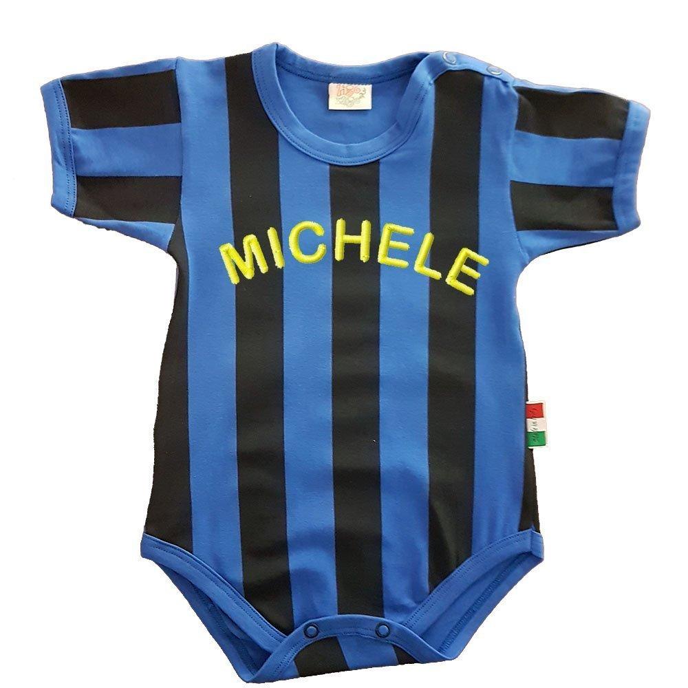 Zigozago Body Romper Baby in blue and black stripes