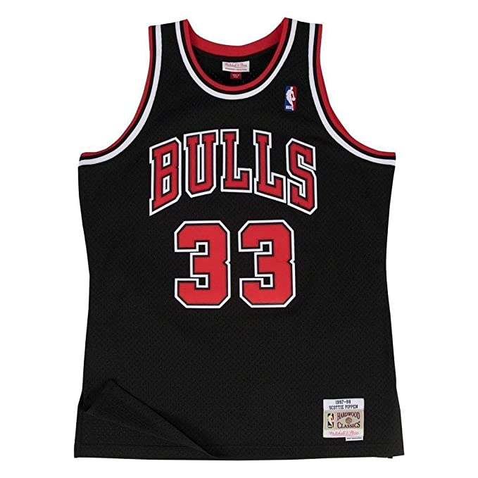 Mitchell & Ness NBA Chicago Bulls Scottie Pippen 33 1997-98 Retro Jersey Swingman Oficial Alternate Hardwood Classics, Camiseta de Hombre: Amazon.es: ...