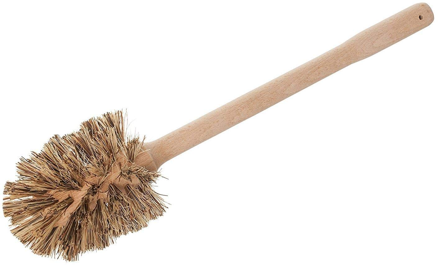 REDECKER Union Fiber Toilet Brush with Untreated Beechwood Handle, Durable Natural Stiff Bristles, 15'', Made in Germany by REDECKER