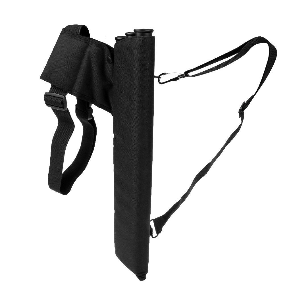 Gazechimp Carcaj de Protección de Flechas Funda de Almacenamiento con 3 Tubos de Interior Regalo para Arquero - Negro