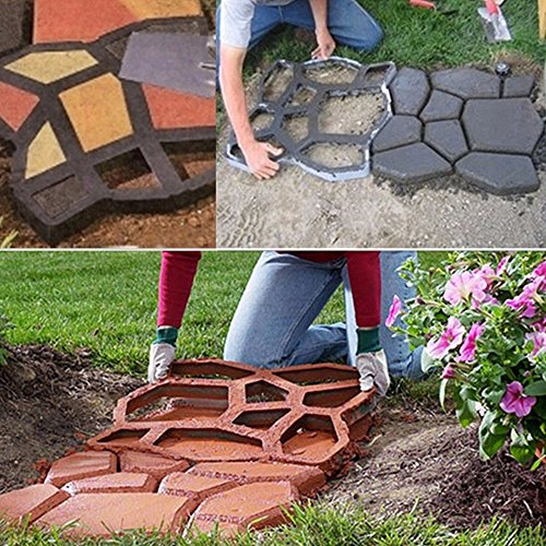 Plastic Path Maker Mold Manually Paving Cement Brick Molds The Stone Road Auxiliary Tools For Garden Decor