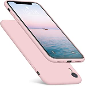 DTTO Compatible with iPhone XR Case, [Romance Series] Silicone Case with Hybrid Protection for iPhone XR 6.1 Inch - Pink Sand