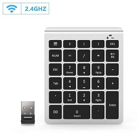 Holihifi - Teclado numérico inalámbrico (2,4 G, USB, Teclado numérico de