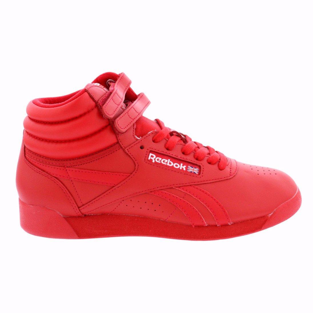 Reebok Women's F/S Hi Spirit Sneaker, Excellent Red/White, 8.5 M US