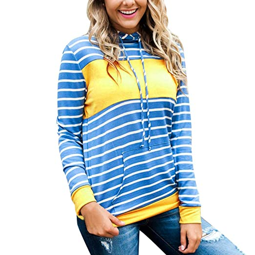 f2494c0bc75 Toraway- Women Fashion Hoodies Sweatshirts Pullover Casual Lightweight  Activewear Striped Jumper Tops Blouse at Amazon Women's Clothing store: