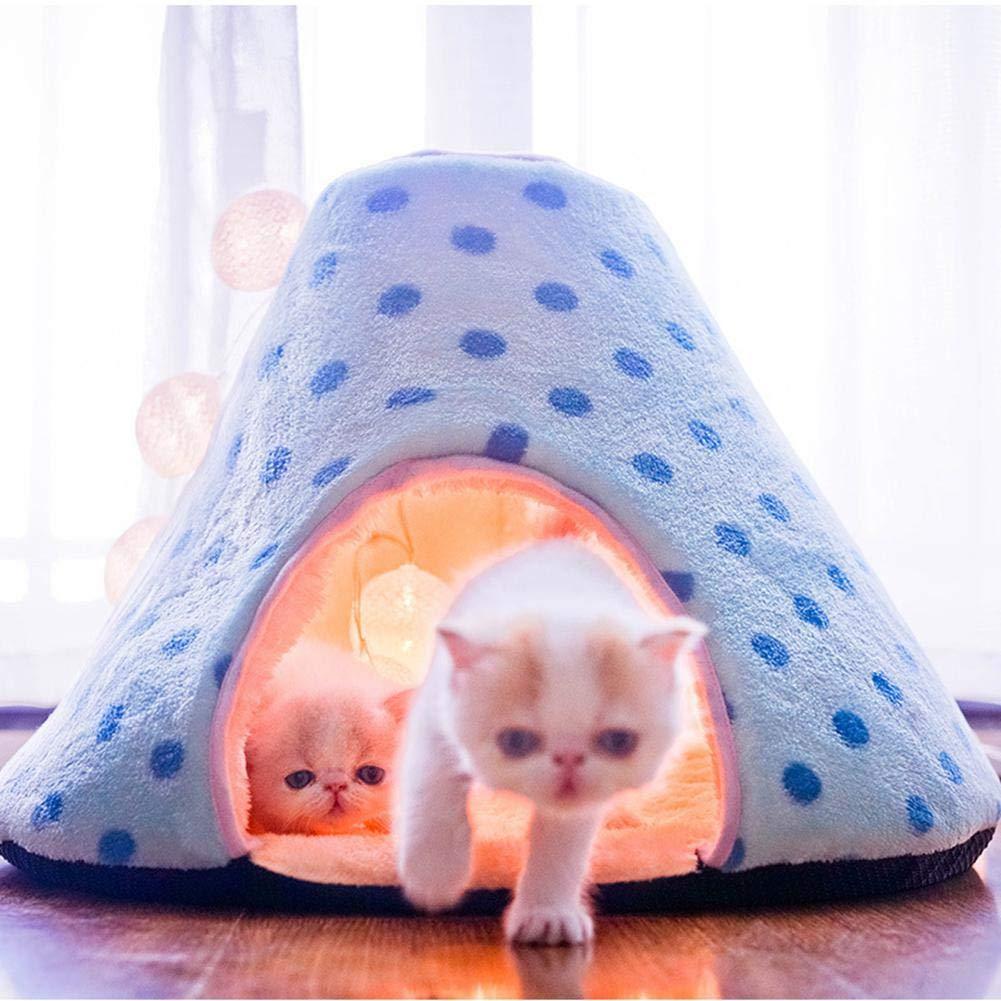 KOBWA - Cama para Gatos, portátil, Lavable, Suave, cálida, para Mascotas, para Gatitos, Cachorros, Perros pequeños en Invierno y otoño: Amazon.es: Productos ...