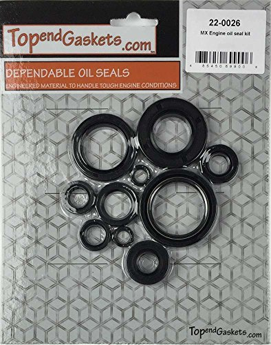 NEW 10pc Engine Oil Seal Kit – Fits Yamaha YZ125 YZ 125 1998-2000 (Yz125 Oil)