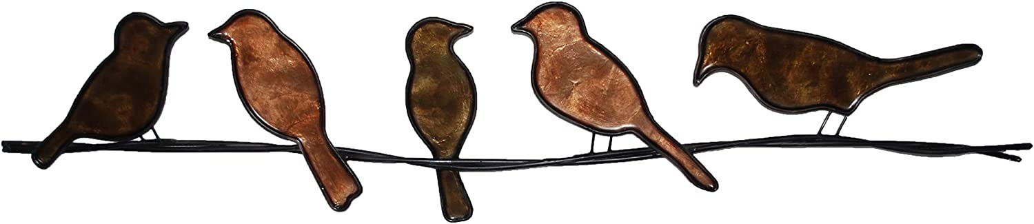 Eangee Home Design Birds On A Wire Brown 29 Inches Length x 1 Inch Width x 6 Inches Height (m7005 br)