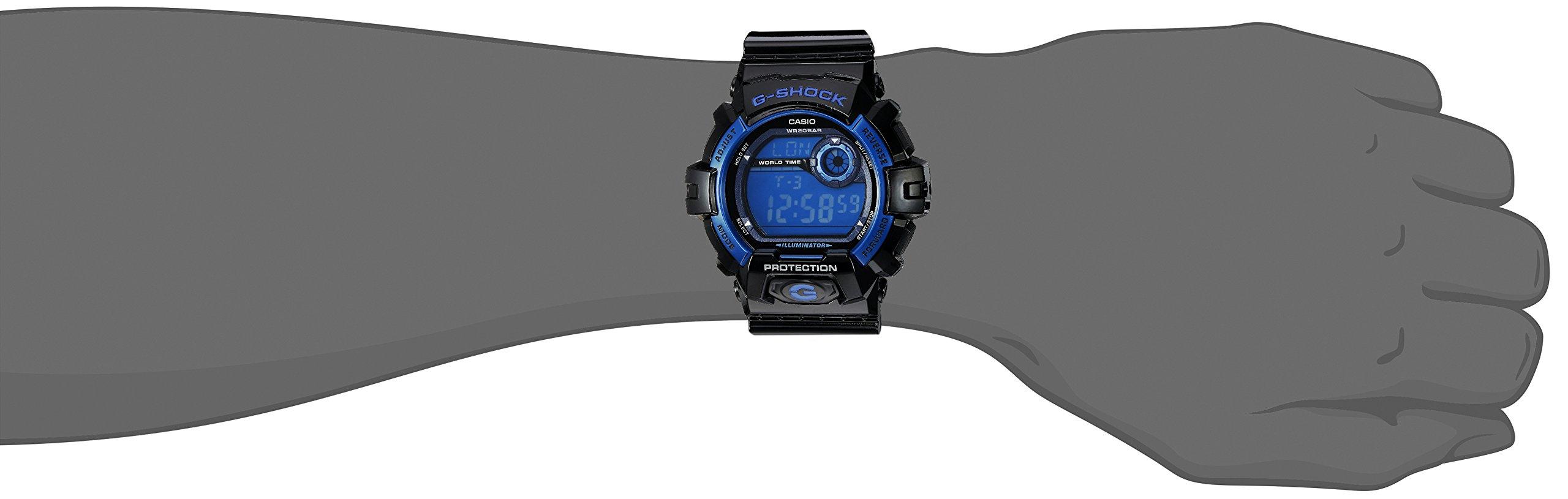 6a4b2a245ec Casio Men s G8900A-1CR G-Shock Black and Blue Resin Digital Sport Watch -  G8900A-1CR   Sport Watches   Sports   Outdoors - tibs
