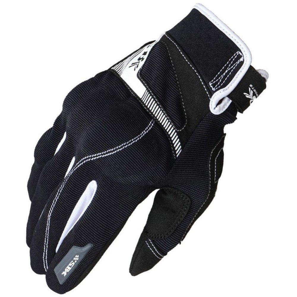 QARYYQ Outdoor Sports Motorradhandschuhe Klettern Wandern Jagd Angeln Handschuhe, Mehrere Farben Handschuh (Farbe   SCHWARZ, größe   L)