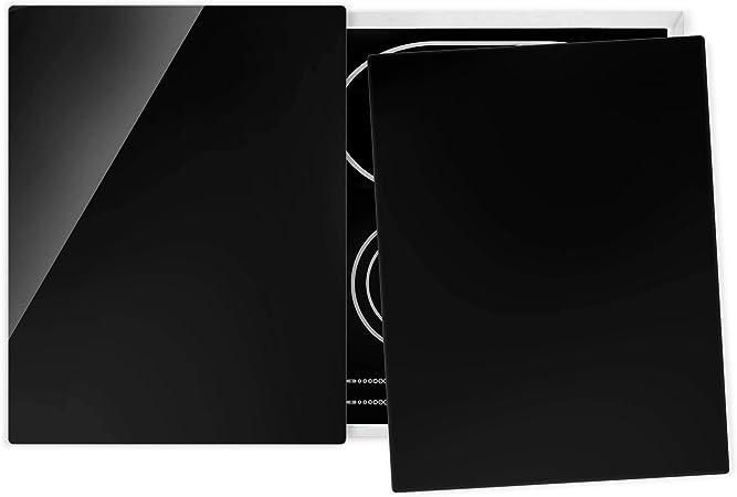 Protection Universelle des plaques Verre tremp/é Tiefschwarz 52 x 80 cm
