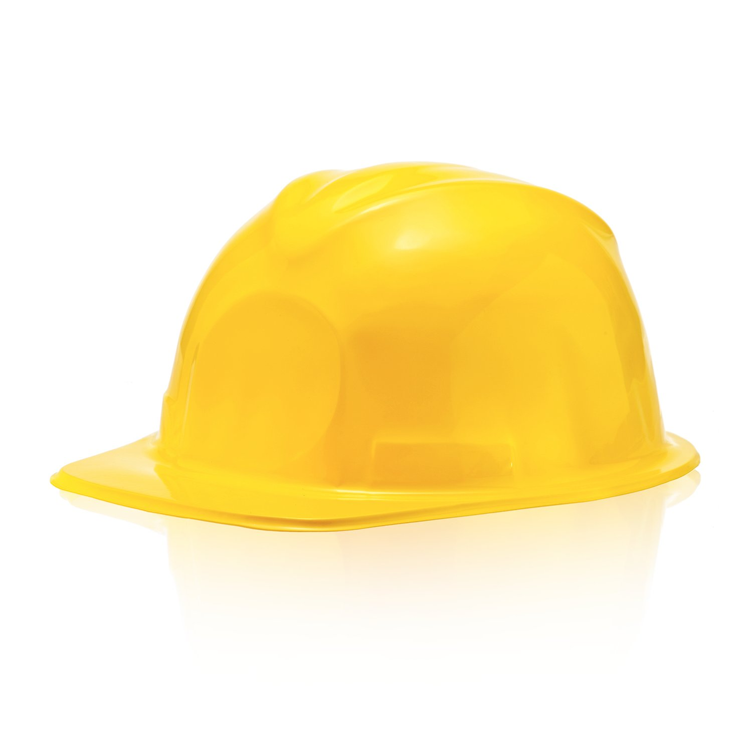 Bottles N Bags 24 Pack of Child Size Plastic Yellow Construction Hats for Young Builders by by Bottles N Bags (Image #2)