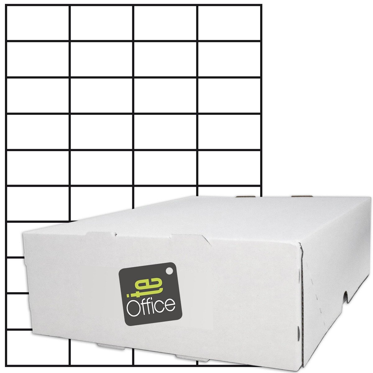 te-office 20000pezzi Etichette adesive etichette adesive universale etichetta in A4arco bianco opaco 52, 5x 29, 7mm Laser a getto di inchiostro TE-Importe