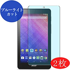 """【2 Pack】 Synvy Anti Blue Light Screen Protector for Acer Iconia One 7"""" B1-760HD Blue Light Blocking Screen Film Protective Protectors [Not Tempered Glass] New Version"""