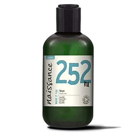 Naissance Aceite Vegetal de Soja BIO 250ml - 100% Puro, certificado ecológico, vegano