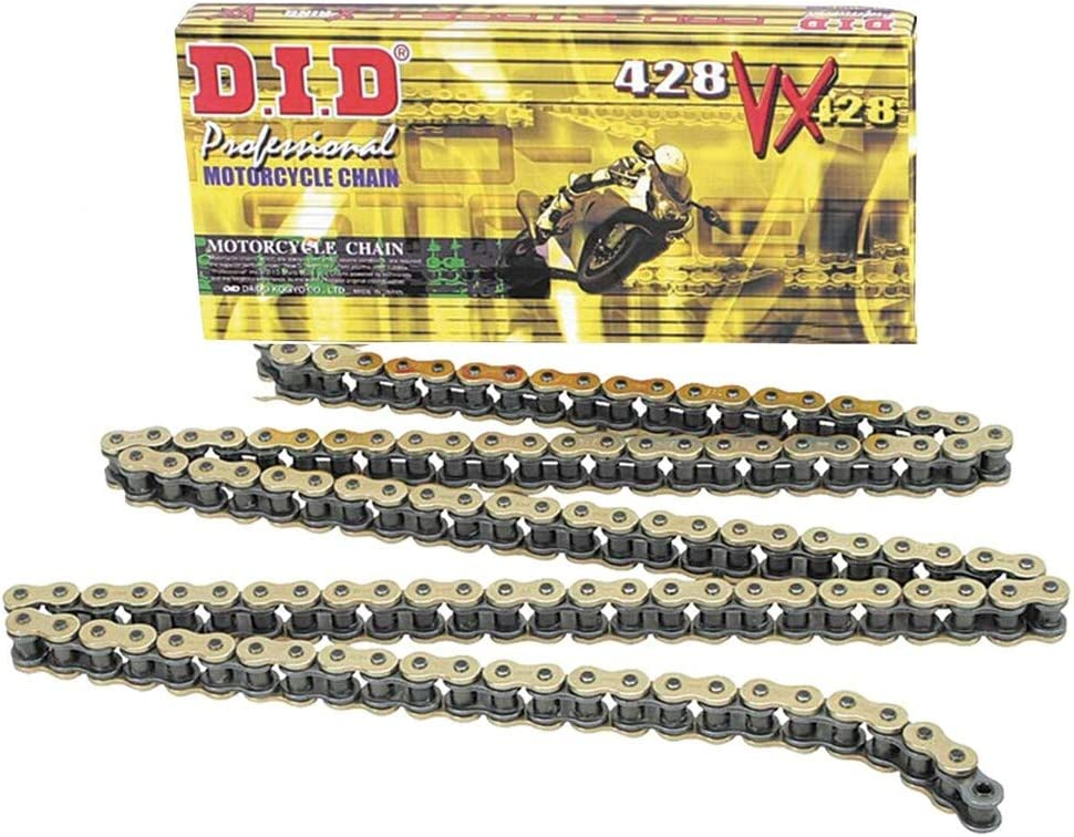DID 428/VX Chain 136/Links X-Ring//–/Open with Clip Lock