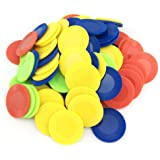 SmartDealsPro 4 Color 6/7 Inch Plastic Counting Counters Games Tokens Bingo Chips