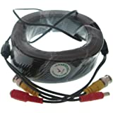 100M 300Ft Cctv Camera Cable Video With Bnc Cord Security Dvr Rg59 Black