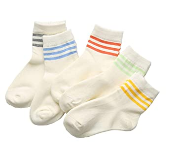 Baby Girls Socks Toddler Crew Socks 5 Pack