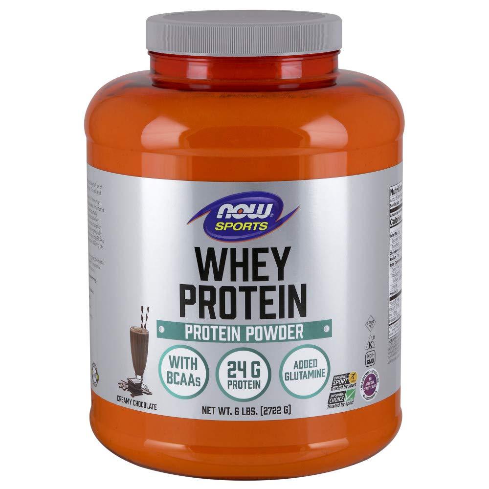NOW Sports Nutrition, Whey Protein Powder, Creamy Chocolate, 6-Pound by Now Sports