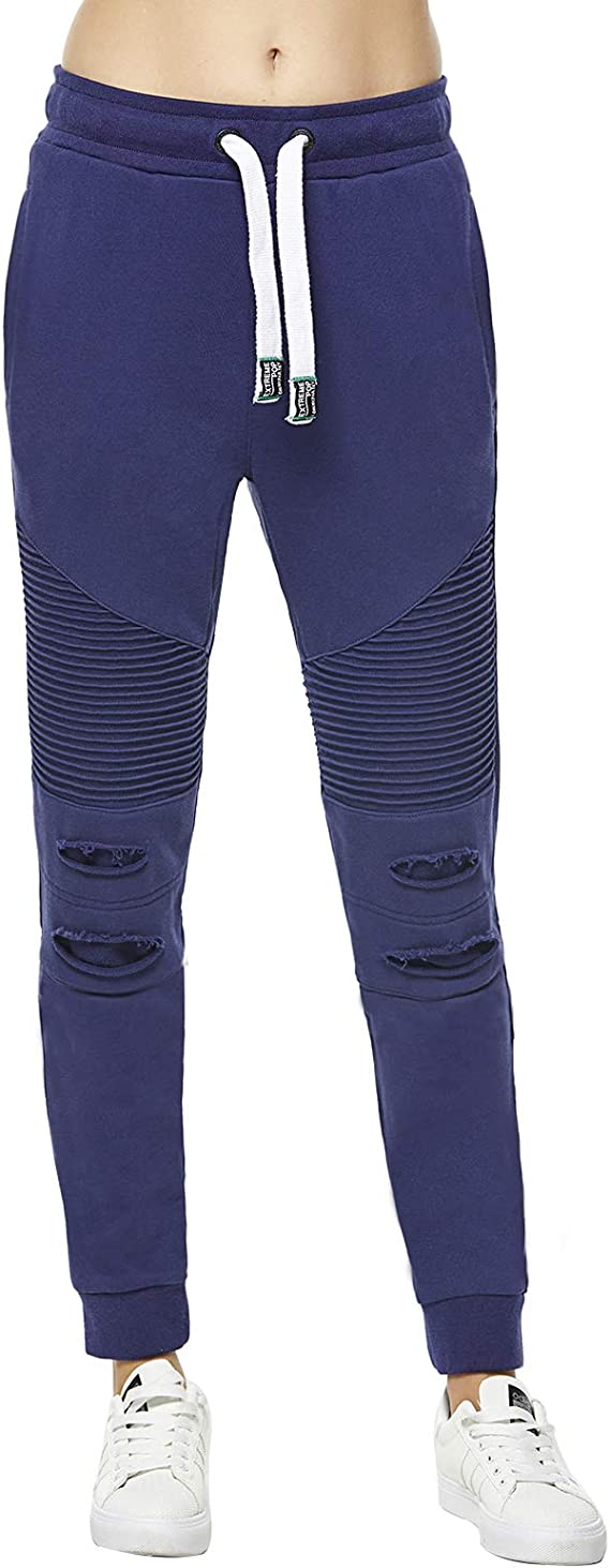 Extreme Pop Mujer Slim Joggers Ripped Tracksuit Bottoms UK Brand ...