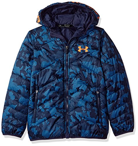 a739ef2d4 Galleon - Under Armour Boys' ColdGear Reactor Hooded Jacket, Midnight  Navy/Midnight Navy, Youth Small