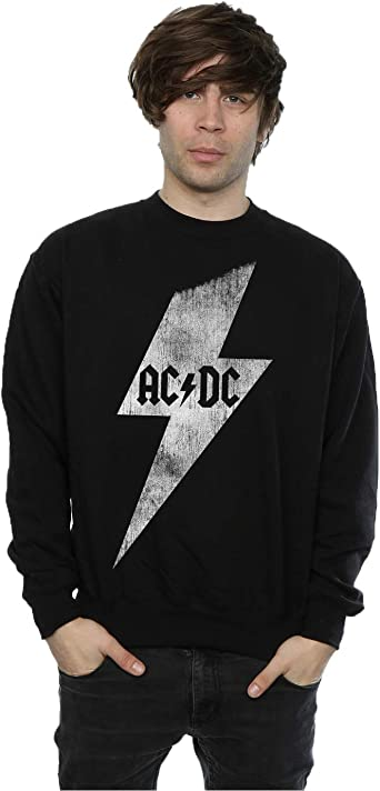 AC/DC hombre Lightning Bolt Camisa de entrenamiento: Amazon ...