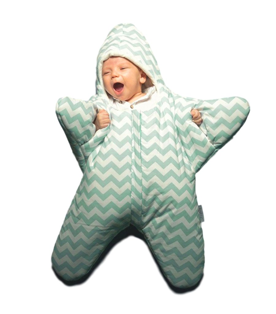 WarmWinter Newborn Cotton Infant Baby Bunting Starfish Sleeping Bag 0-12M Green