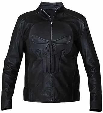 XXS to 5XL Punisher Frank Castle Thomas Jane Sheep Leather Jacket