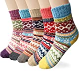 Womens 5 Pairs Winter Warm Socks