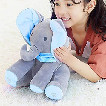 Peek-a-boo Talking Singing Elephant Music Doll Plush Toy Stuffed toy Kids Gift