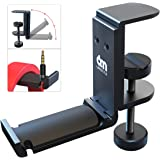 6amLifestyle [2020 Newest Version] Foldable Headphone Stand Hanger Under Desk Clamp with Cable Organizer Save Space…