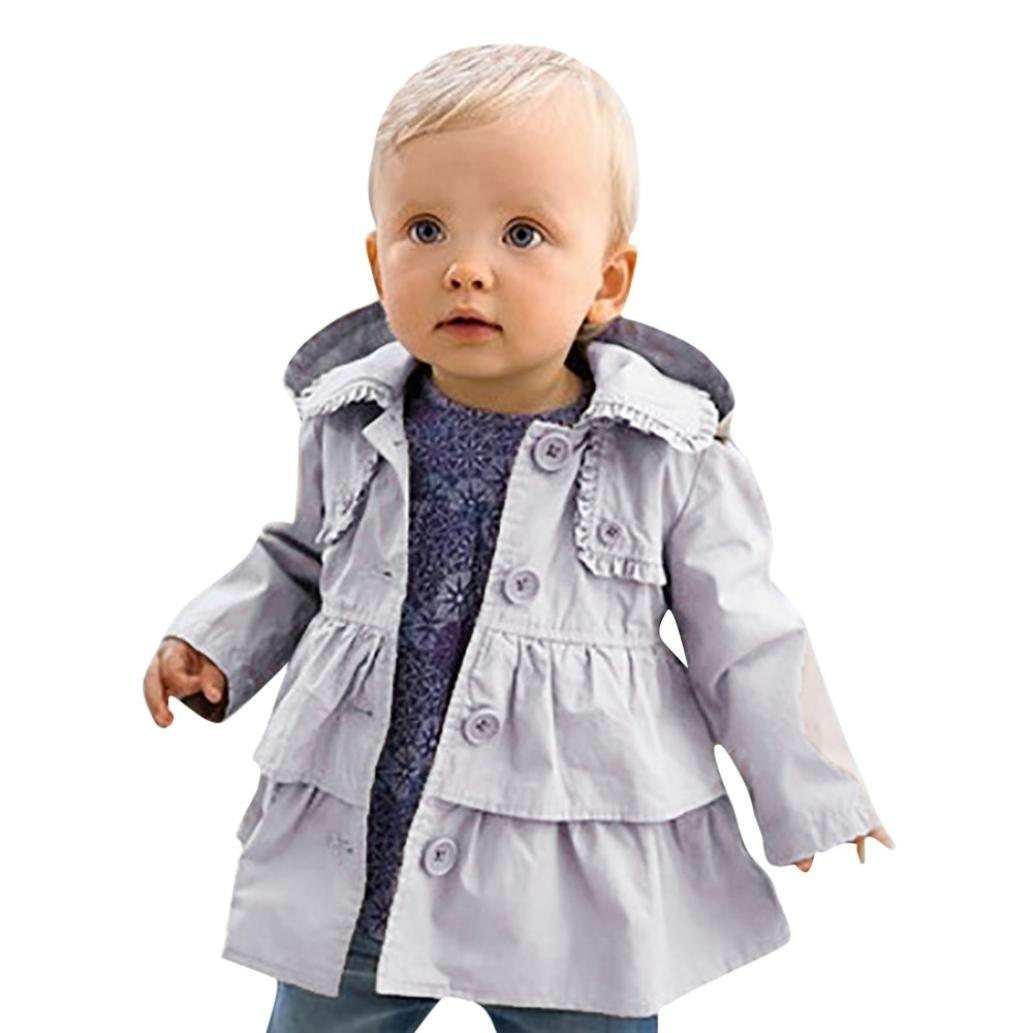 Kintaz Newborn Baby Girl Autumn Winter Hooded Warm Coat Childrens Kids Outwear Jacket (5T)