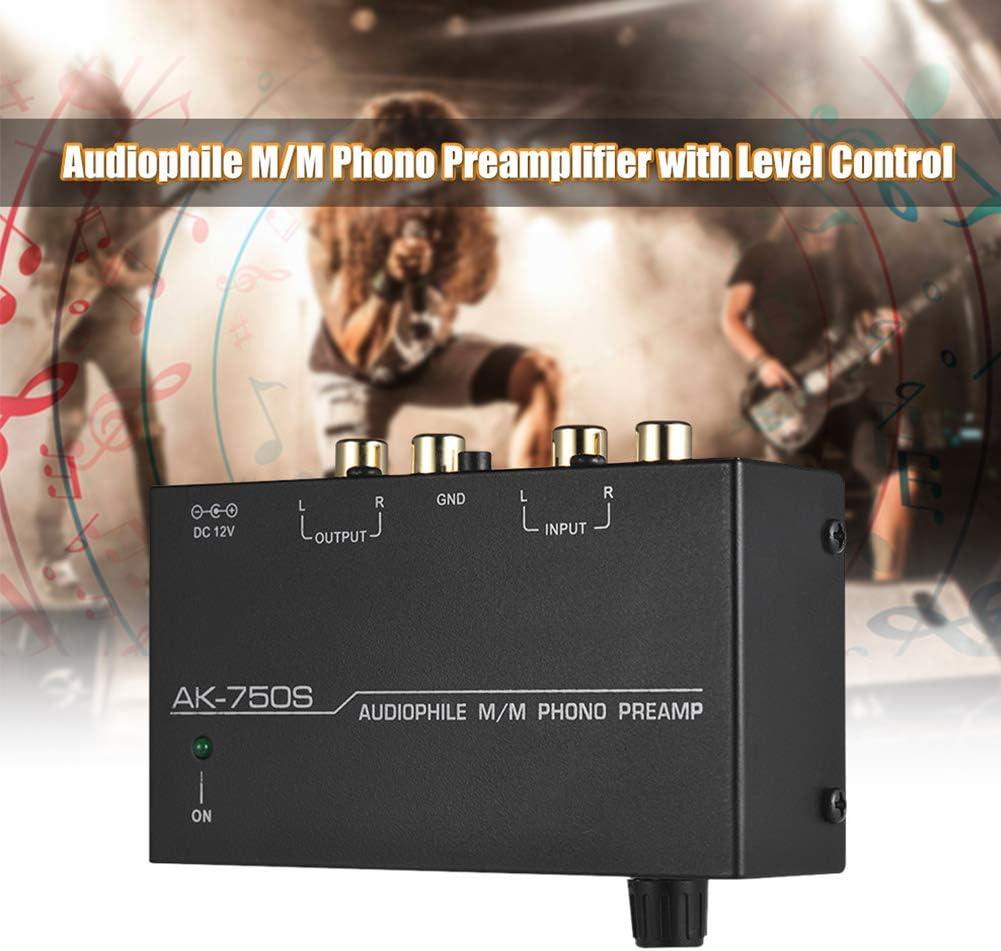 Centeraly Phono Preamp elektronischer Stereo-Phono-Vorverst/ärker-Vorverst/ärker Mini Phono Plattenspieler-Vorverst/ärker-Vorverst/ärker mit Lautst/ärkeregler