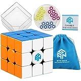 Coogam Gans 354 M Speed Cube Stickerless 3x3 Gan354 Magnetic Puzzle Speedcube with Extra Blue Bag