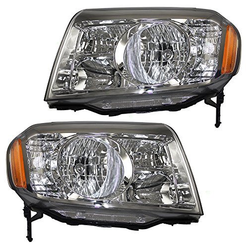 Driver and Passenger Headlights Headlamps Replacement for Honda SUV 33150SZAA01 33100SZAA01 (Honda Pilot Headlight Assembly)
