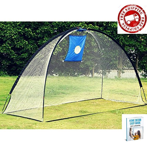 Golf Chipping Net Practice Net Training Driving for Backyard Hitting Mat and Net Pop Up Target & eBook by AllTim3Shopping