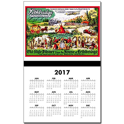 cafepress-canada-beer-label-15-2017-calendar-print-one-page-calendar-poster-glossy-11x17-heavy-paper