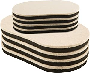 Super Sliders 4705495N Reusable Large and X Large Felt Furniture Sliders for Hardwood Floors – Quickly and Easily Move Any Item, Multi-Size Oval Combo Pack