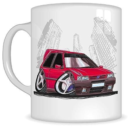 Regalos de Koolart k214-mg dibujos animados de Fiat Uno Turbo – Caricatura Rojo para