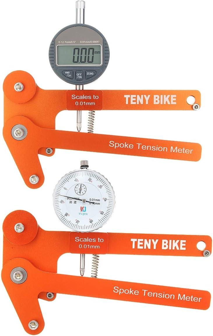 MXBIN Escala Medidor tensiómetro de Bicicletas Constructores Rueda de Herramientas Digitales tensión de los radios Herramienta de reparación de Piezas de Accesorios (Color : NO. 002)