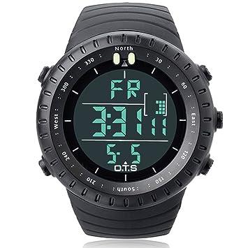 LE Relojes Hombre/Deporte, Cronómetro Multifuncional/Digital Multifuncional Multifuncional para Buceo acuático para