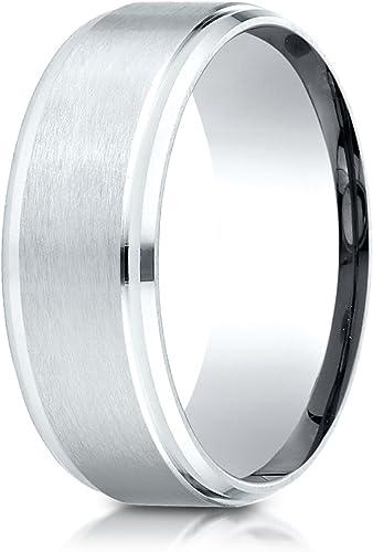 PriceRock 14K Rose Gold 2mm Slightly Domed Standard Comfort-Fit Wedding Band Ring for Men /& Women Size 4 to 15