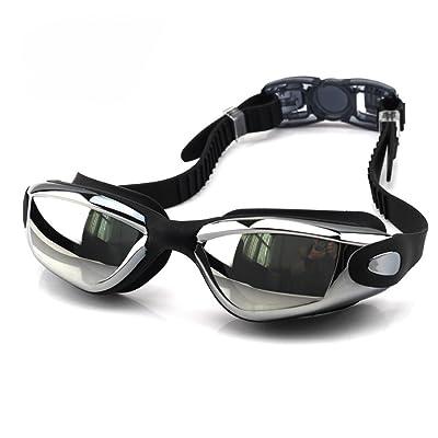5f31b217e45dc1 Sunbo Lunettes de natation avec étui de protection gratuit - EveShine  Lunettes de natation verre miroir antibuée anti-UV pour Hommes et Femmes  adultes, ...
