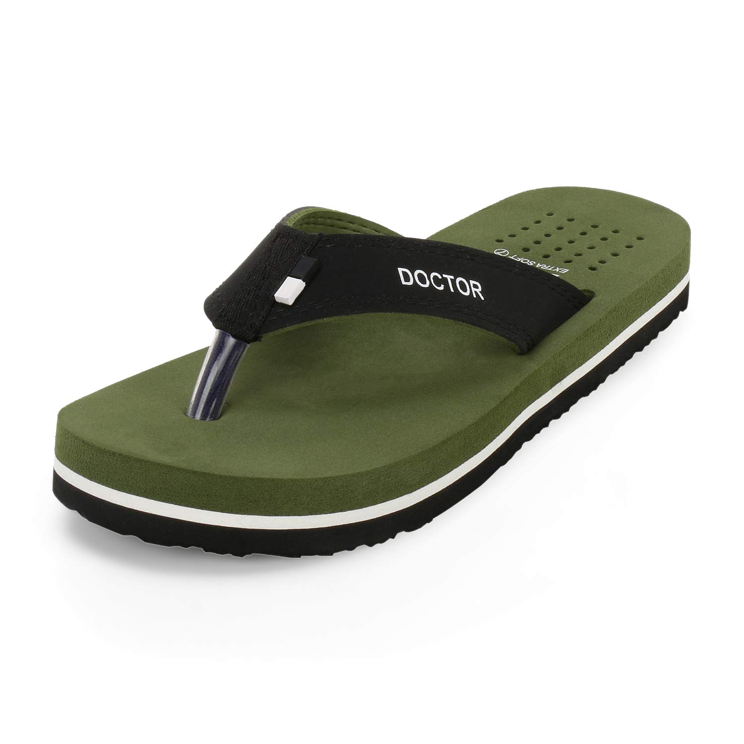 DOCTOR EXTRA SOFT Men's Green Dr.Slippers (12 IND/UK, 46 EU) (B07BVB43RD) Amazon Price History, Amazon Price Tracker